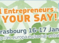 Social Entrepreneurs: Have Your Say!  An Interactive Event on social entrepreneurship in Europe